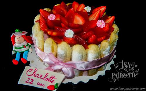 charlotte aux fraises gâteau valence espagne