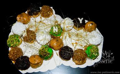 le 60 ans pâte à choux garni vanille café chocolat pistache valence espagne