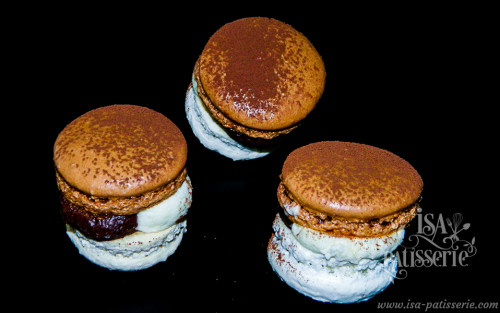 macaron vanille chocolat valence espagne