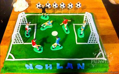 gâteau anniversaire garçon foot valence espagne