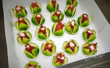 ballotin de figues froamges frais et jambon