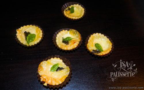 Mini Tartelette Mascarpone Parmesan basilic