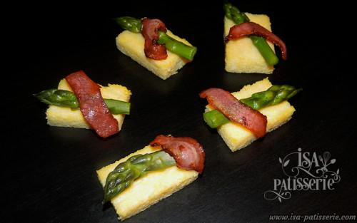 palet polenta asperge verte bacon valence espagne